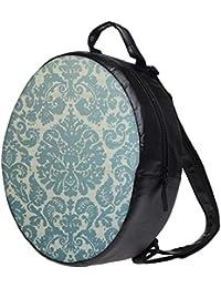 Snoogg Motif Print Blue Bookbag Rounded Backpack Boys Girls Junior School Bag PE Shoulder Bag Lunch Kids Luggage