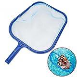 Professional Râteau à feuilles en plastique Bleu en maille filet Écumoire propre Outil de piscine Feuille Écumoire Net