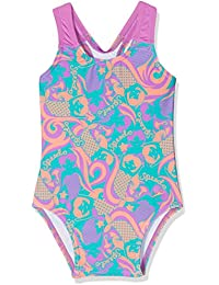 Speedo Girls 'de pompas Essential All Over–Bañador infantil (1pieza), niña, Blowing Bubbles Essential All Over 1 Piece, Jade/Orchid/Soft Coral, 4Años