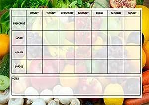 Régime Calories compteur repas Tracker Menu tableau planning à repas