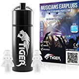 Tiger Musicians Filter Earplugs - Hearing Protection Ear Plugs SNR 26dB -
