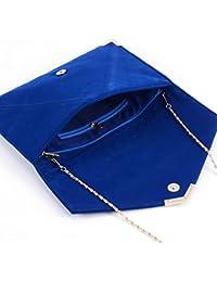 es Bolsos mano Amazon mujer Carteras de Azul y clutches para gdUUqwH