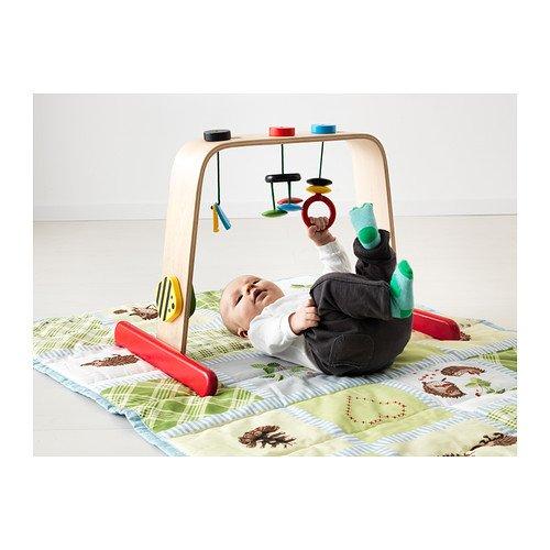 IKEA - LEKA Gimnasio para bebé, abedul, Multicolor