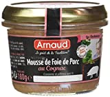 arnaud mousse de foie de porc au cognac 180 g - pack de 12