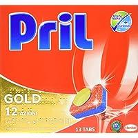 Pril Gold 12Aktien, Reiniger für Maschinen Spülmaschine, Packung von 13Kapseln