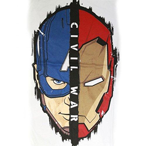 DN TShirt Civil War Marvel–Face 2Face Blanc Homme