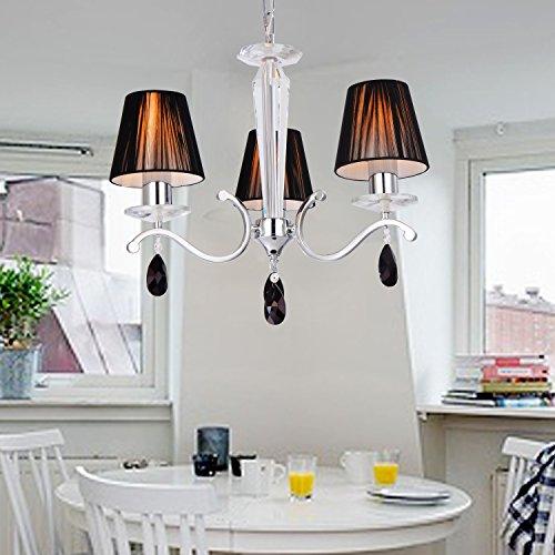OOFAY LUCE Contemporary ferro creativa sala da pranzo soggiorno cristallo letto Lampadario con 3 luce (Tre Paralume)