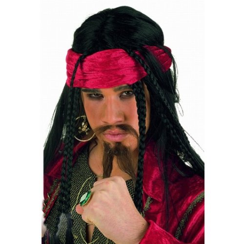 Perücke Buccaneer (Perücke Hook Captain)