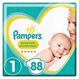 Pampers - New Baby, Dimensione pannolini 1 (2-5 kg) , Lotto di 2 (x88 couches)