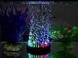 Decorazione Acquario colorati Aqua luci LED Diving lampade Bubble lampade Acquario Luci pneumatico lampade rotonde , 10.5cm (q9)