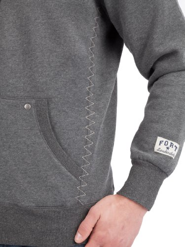 Ultrasport Fort Lauderdale Collection Herren Kapuzen-Sweatjacke/Zip Through Hoodie Key Largo Grey