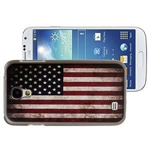 Retro USA Flag Pattern Plastic Case for Samsung Galaxy S4 i9500