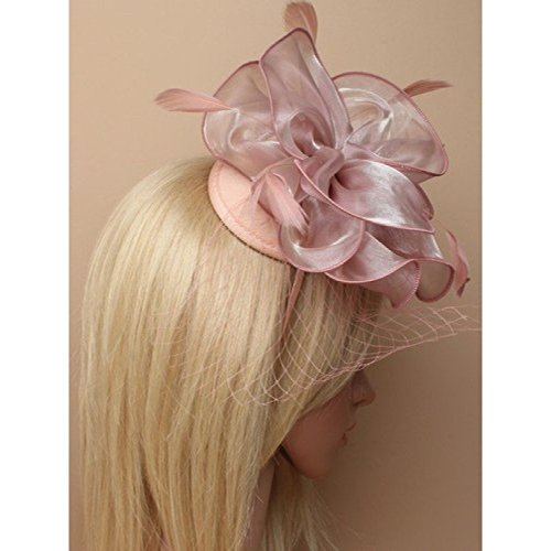 Molly   Rose Pink Chiffon Fabric Flower Style with Feathers Fascinator on a  Matching Ribbon Wrapped aliceband. Wedding Races - Buy Online in Oman. 87a19e8ec64