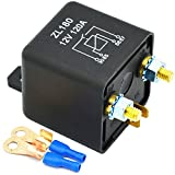Ehdis 12V 120A 4 Pin Auto Relay Black Box Batterie für Automobile Heavy Vehicle-LKW Bagger Van Boot + 2 Pin-Abdruck + 2 Klemme [1 Satz]