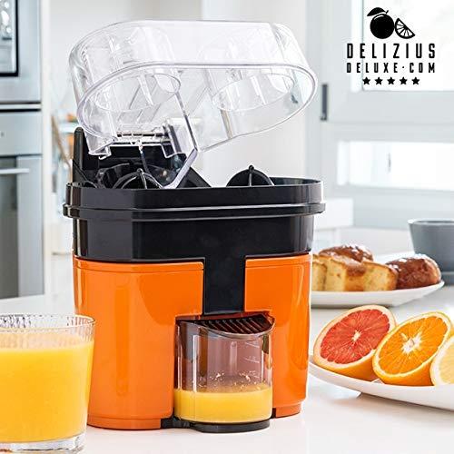 Eurowebb - Aparato de Doble exprimidor eléctrico, zumos de Naranja, Color Blanco, Gris y Amarillo