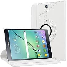 Bingsale Samsung Galaxy Tab 9.7 S2 smart funda carcasa , estructura 360°de cuero función Voltear caso para el Samsung Galaxy Tab S2 (9,7 pulgadas) T815N T810N con soporte Auto Sueño/Estela (blanco)