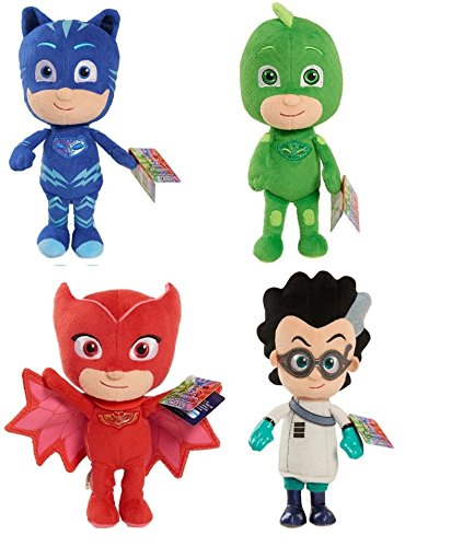 PJ Mask Soft Plush Toy Gekko Owlette Catboy Romeo (All 4)