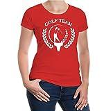 Girlie T-Shirt Golf Team-Signet-XXL-Red-White