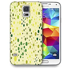 Snoogg Green Spots Printed Protective Phone Back Case Cover For Samsung S5 / S IIIII