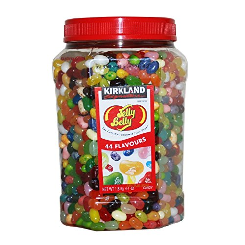 Kirkland Jelly Belly Bean Bulk Jar 1.8kg 44 flavours Sweets (Machine Bean)