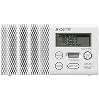Sony XDR-P1DBPW Radio Portable Compacte, FM/DAB/DAB+ - Blanc