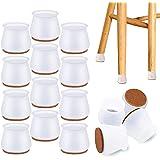 NETUME Tapas protectoras para patas de silla, 16 protectores de silicona para patas de muebles con almohadillas de fieltro, a