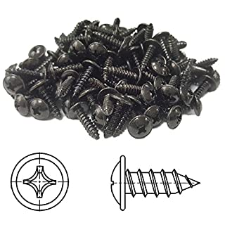 100 Flanged Self-Tapping Screws Phillips Pan Head Black Galvanised 4,2 x 19 mm