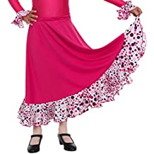 Happy Dance EF008 - Falda de flamenco para niñas, multicolor, talla 10