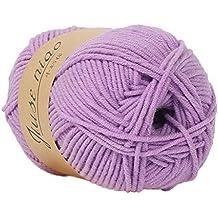 Cooljun Fil de Laine à Tricoter Pull écharpe en Coton - Laine en Acrylique  – Assortiment 1b63388d7d1