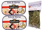 2 x french cod liver - foie de morue connetable - 121 gr - 10 toasts + 1 bag of bouquet garni Théodore Bardin-Cuinet