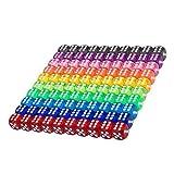Blulu 100 Stück Transluzente Farben 6 Seitige Spiele Würfel Set, 16 mm Runde Ecke Würfel für Spielen Spielzeug Geschenke oder Unterricht Kinder Mathe