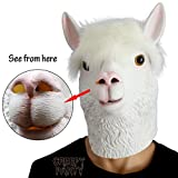 CreepyParty Festa in Costume di Halloween Maschera in Lattice a Testa di Animale Alpaca