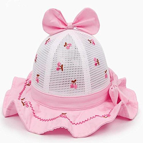 Hut Kinder Sonnenblende Hut Kinder Mesh Becken Kappen Prinzessin Hut Mädchen hohlen Sonnenhut Baby Fischer Hut ()