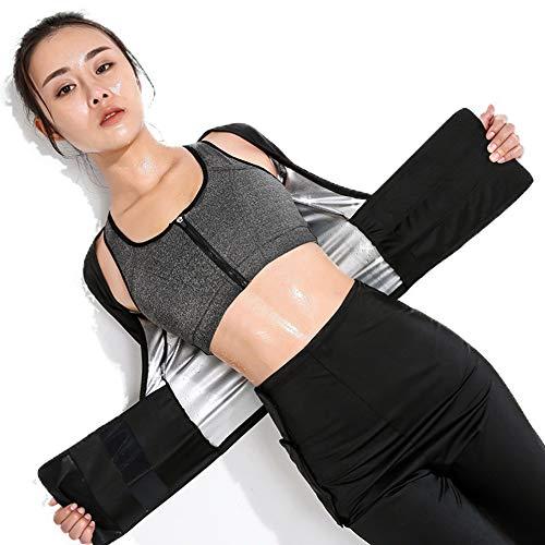 MINIRAH! Gilet de Sudation pour Femme T-Shirt Débardeur Minceur Fitness Pantalon de Sudation Legging Minceur Ceinture De Sudation Amincissante Musculation (Gilet, XL)