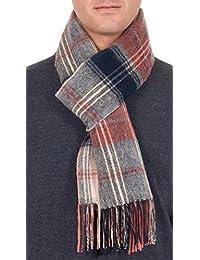 82f4157d2ebf GFM Écharpe 100% laine pour homme, automne et hiver