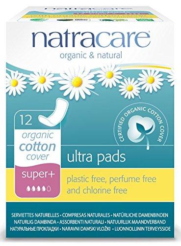 Boîtes de 12 Serviettes Ultra Fines Avec Ailettes - SUPER PLUS - Coton Bio