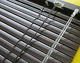 Alu Jalousie Aluminium Lamellen Fenster Tür Rollo Mocca Braun Dunkelbraun Schoko - Breite 50 bis 240 cm - Länge 160 und 220 cm Jalousette Metall Lamellenjalousien (110 x 160 cm)
