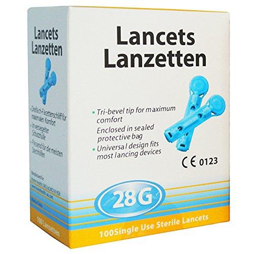 200 Lancetas 28G Universales - Totalmente Compatibles con Autolet/Microlet / Auto Mini/Glucolet / Hemalet/Penlet II/Soft Touch/AutoLancet / BD Lancet Device/Freestyle / SD Codefree
