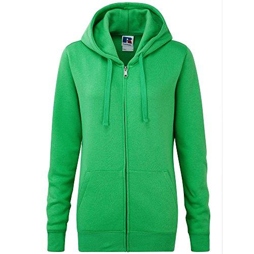 Russell - Sweatshirt à capuche et fermeture zippée - Femme Pomme