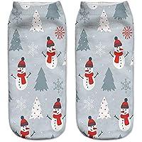 TDPYT 10 Unids / 3D Impreso Mujeres De Navidad Calcetines Divertidos Lindos Unisex Low Cut Calcetines Divertido Lindo Suave De Algodón De Invierno De Tobillo Calcetines Medias