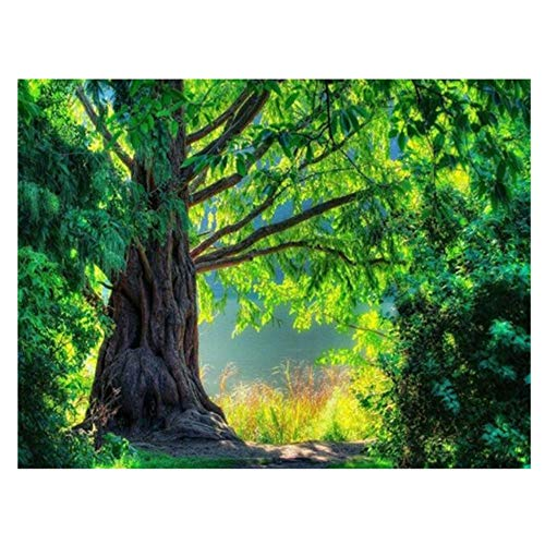 Diy Diamond Painting Full Square Diamond Embroidery Forest Cross Stitch Mosaic Puzzle Christmas Wall Stickers, 50x70cm