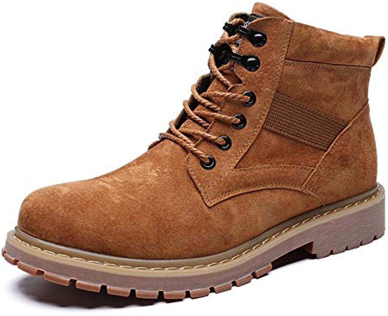 BND-scarpe , Stivaletti da Uomo Pelle di suino Morbida Pelle Punta Arrossoondata alla Moda Lace up Scarpe da Sport... | Nuovo Prodotto 2019  | Uomo/Donne Scarpa
