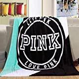 130Cm*160Cm Warm Blanket Pink Vs Secret Blanket Throws On Bath/Sofa/Bed/Plane Travel Coral Fleece Plaids Blanket (D)