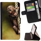 STPlus Animal bebé mono Monedero Carcasa Funda para Huawei P8 Lite (2017)