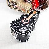 SunnyGod Hip Hop Gitarre Sparschwein Erstaunliche Weißblech Candy Jar mit Schloss (Schwarz)