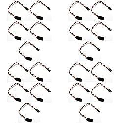 4 x Quantity of Walkera QR X350 PRO 5X 15CM Servo Lead Extension (Futuba) 22AWG Stronger (Servo Connector) Wire Cable