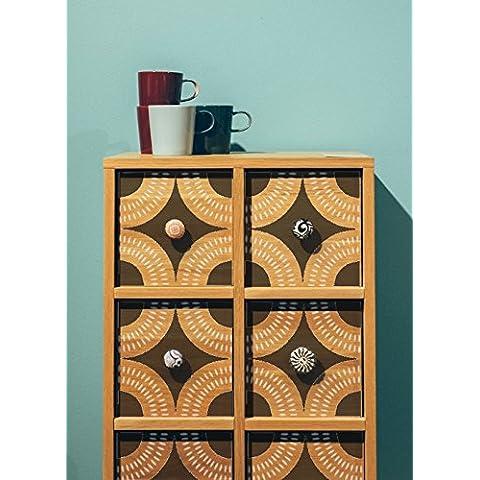 Desert Sands Azulejos plantilla de 2capas africana marroquí para muebles Pared Plantilla, Small A4