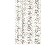 Barbara Becker Duschvorhang Amira textiler Griff weiß/beige Größe 180x200 cm