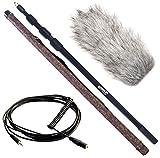 keepdrum Zubehör-Set für Video-Mikrofone - Tonangel 3m + Rode DeadCat Windschutz + VC-1 Kabel