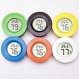 1Stück rund Mini New Digital lcdpet Digital Temperatur Feuchtigkeit Messgerät Thermometer Hygrometer (zufällige Farbe)